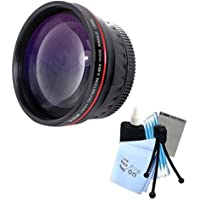 Vivitar Series 1 RedLine HD 0.43X Wide Angle Lens w/ Complete Cleaning Kit for Canon A570 A580 A590 Cameras