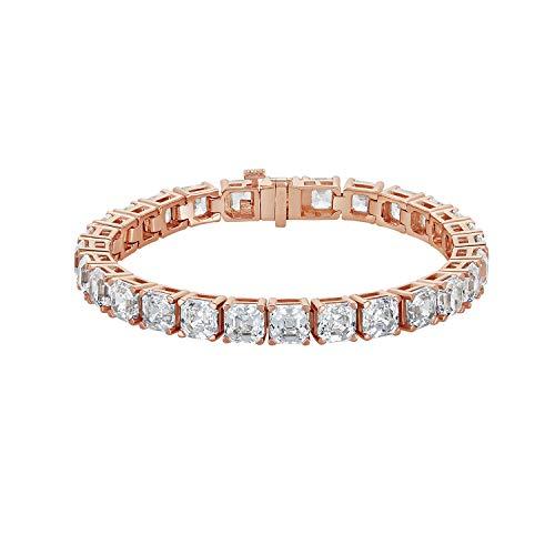 NANA Silver Swarovski CZ Tennis Bracelet- 7
