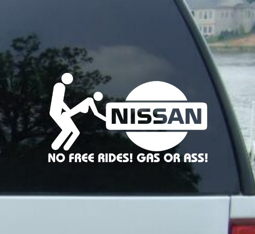 No Free Rides Decal, 6-Inch ()