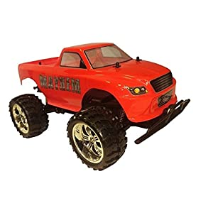 Mayhem Monster Remote Control Truck Toy Car Includes Transmitter Red