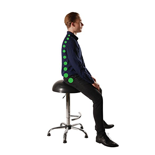 Balance Ball Standing Desk Chair Stool, Adjustable Jellyfish Chair by Coreseat | Ergonomic Exercise Office Chair that Provides Stability and Core Strength for the Home, Office or Classroom (Stool Bar Collection)