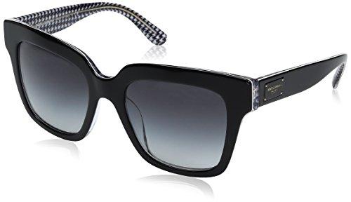 Dolce & Gabbana Women's Acetate Woman Square Sunglasses, Black/Pied DE Poule, 54 - And Dolce Gabana Frames