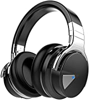 COWIN E7 Bluetooth Headphones with Microphone Hi-Fi Deep Bass Wireless Headphones Over Ear, Comfortable Protein Ear pads, 30 Hours Playtime for Travel Work TV Computer - Black