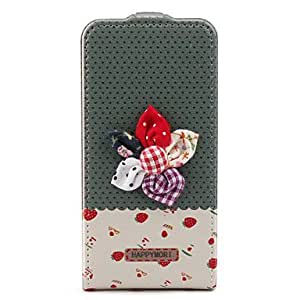 Strawberry Style Full Body Flip Case Cover for iPhone 4 and 4S (White)