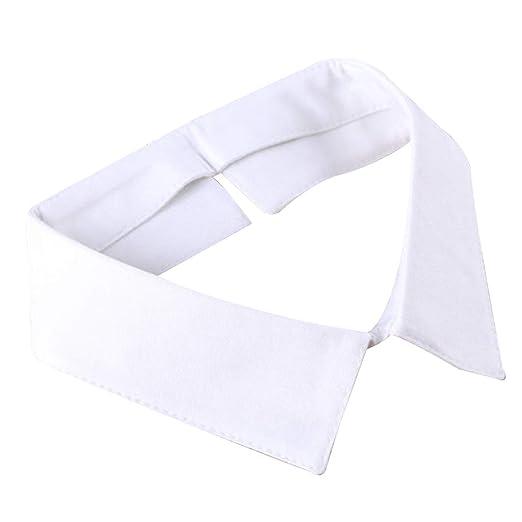 zrshygs Camisa con Cuello Blanco/Negro clásico Corbata con Cuello ...
