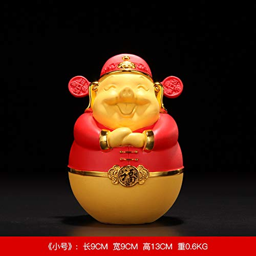 THEALEEWIN Home Decoration Pig Piggy Bank Lucky Money Golden Pig Decoration Home Decorations Festive Gifts, A