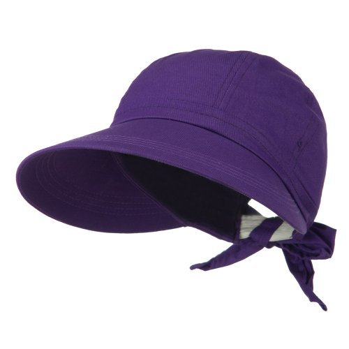 And Golf Hats Visors (JFH Women's Classic Quintessential Sun Wide Visor Hat in Sold Bold Colors (Purple))