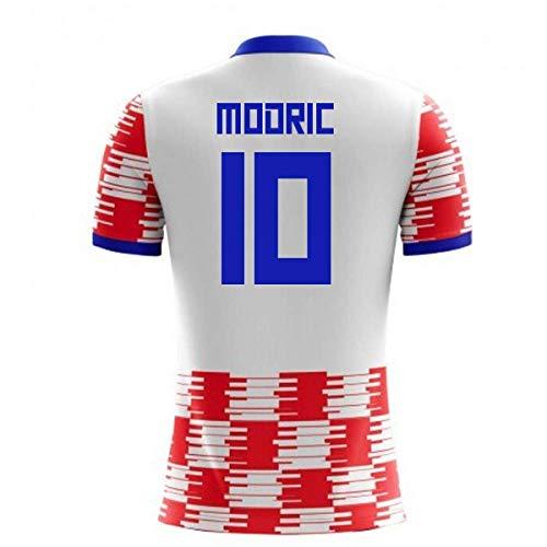 Airosportswear 2018-19 Croatia Home Concept Football Soccer T-Shirt Jersey (Luka Modric 10) - Kids