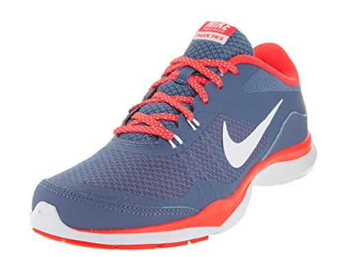 Nike Womens Flex Trainer 5 Ocean Fog/White/Bright Crimson Training Shoe 9 Women US