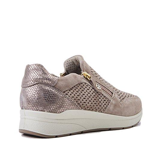 ENVAL SOFT Sneakers Donna 1269333/D AF 12693VISONE, Colore Visone, in Camoscio, Fondo Gomma, Nuova Collezione Primavera Estate 2018
