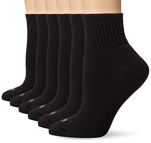 Hue Women's Mini Crew Sock 6-Pack, Black One Size
