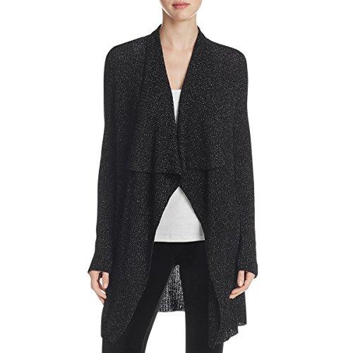 Eileen Fisher Womens Metallic Wool Cardigan Top Black (Eileen Fisher Wool Cardigan)
