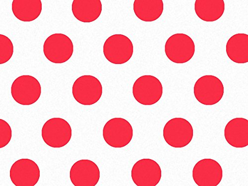 Red Dots Tissue Paper 240~20''x30'' Sheets Tissue Prints (240 Sheets) - WRAPS-P468 by Miller Supply Inc