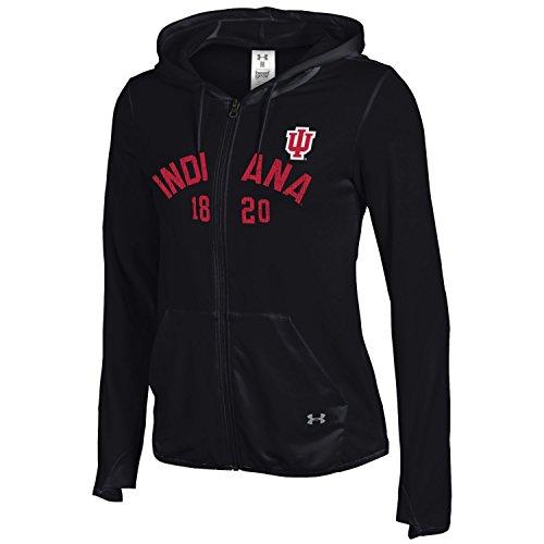 Under Armour NCAA Indiana Hoosiers Women's Full-Zip Hood, Large, Black