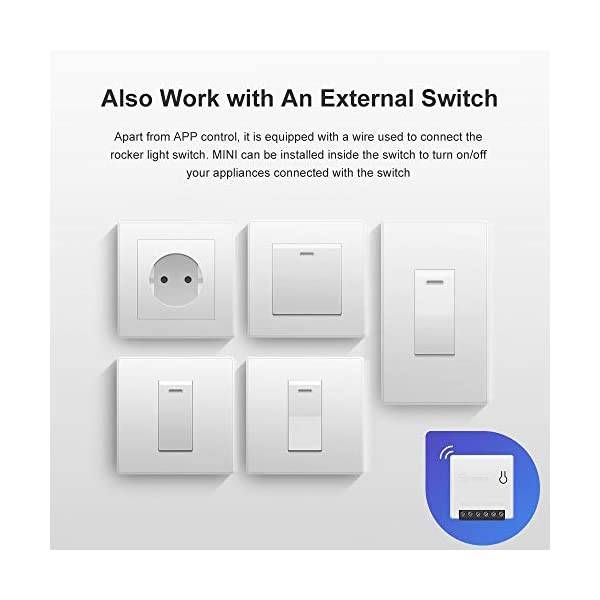 SONOFF MINI 10A Smart WiFi Wireless Light Switch, Universal DIY Module for  Smart Home Automation Solution, Compatible with Alexa & Google Home