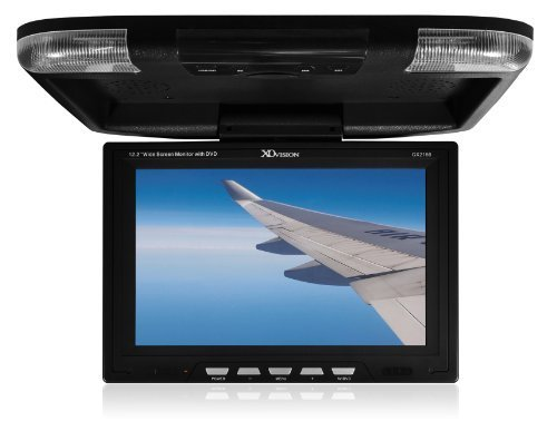 XO Vision GX2156B 12.2-Inch Wide Screen Overhead Monitor with Built-in DVD Player and HDMI Input (Black)