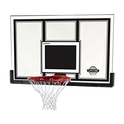 71526 Lifetime 54 in. Backboard Rim Competition Combo