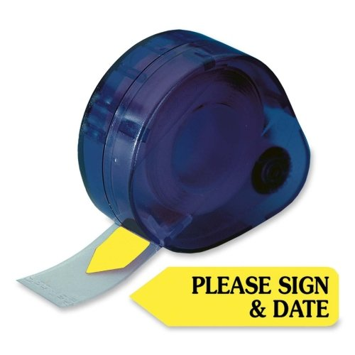 Redi-Tag Please Sign & Date Arrow Tag - Removable, Self-adhesive - 1.88