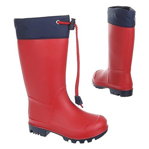 K130pm 54 Gst Chaussures Fille Rot Enfants Garçon Caoutchouc 0wFvqv