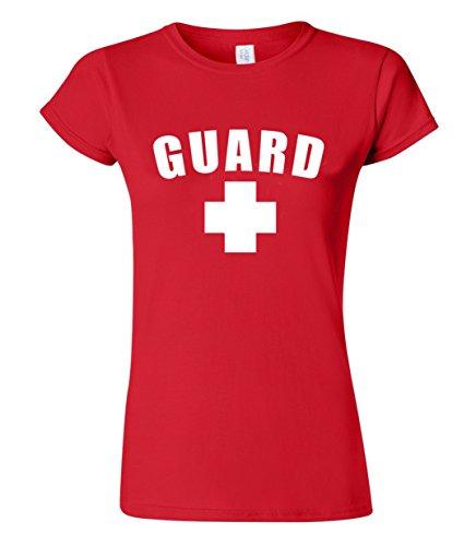 Womens Guard T-Shirt (Red, Medium)