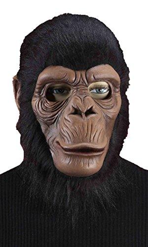 (Forum Novelties Men's Latex Chimpanzee Mask, Brown, One)