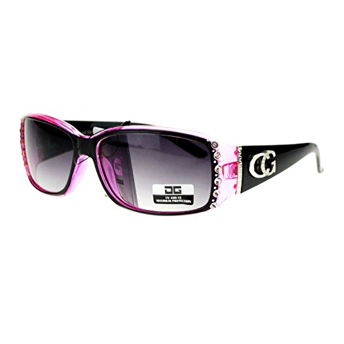 CG-Eyewear-Rhinestone-Studded-Narrow-Rectangular-Designer-Fashion-Sunglasses