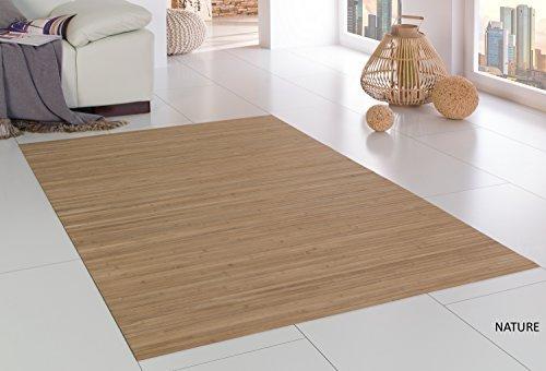 Bambusteppich Massive Nature, 170x240 cm,17mm gehärtete Stege Generation Bambusteppich kein Bordürenteppich   Teppich   Wohnzimmer   Küche DE-Commerce   Made IN Germany