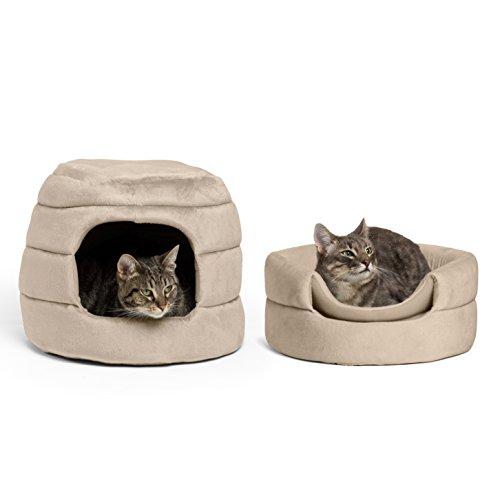 Best Friends by Sheri 2-in-1 Honeycomb Hut-Cuddler in Bella, Wheat, 16″x16″x13″