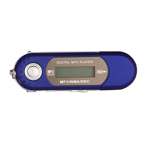 TOOGOO (R) 8GB LCD Mini MP3 WMA Player FM Radio USB Flash Laufwerk - Blau