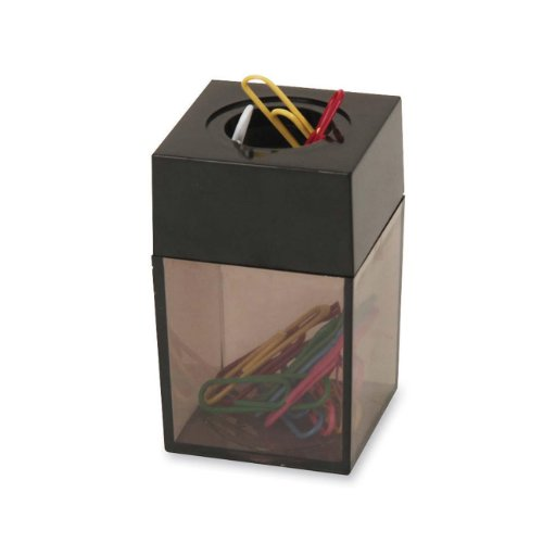 S.P. Richards Company Paper Clip Dispenser, Magnetic, 2 x 3 Inches, Smoke/Black (SPR11796) (2)