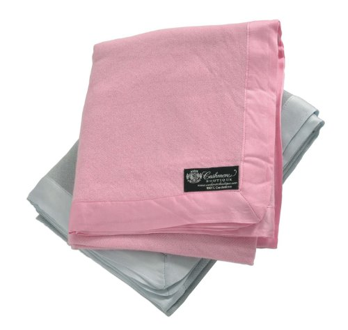 Pure Cashmere Baby Blanket (Baby Pink, 36