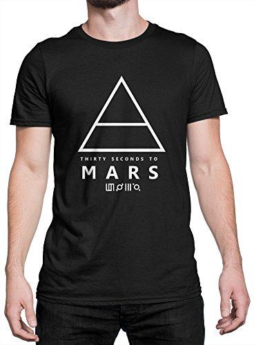 30 Nero PrintMaglietta T White To shirt 100Cotone Rock Mars Art Uomo Seconds Triangle Lamaglieria ywPmn0Ov8N