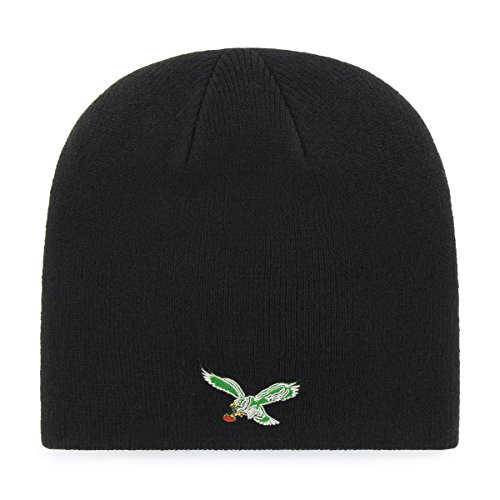 Eagles Legacy Beanie Knit Cap, One Size, Black ()