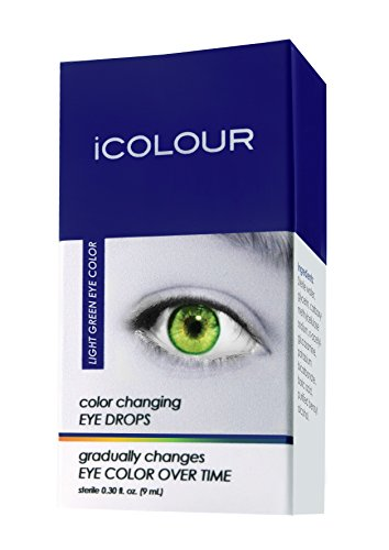iCOLOUR Color Changing Eye Drops - Change Your Eye Color Naturally - 1 Month Supply - 9 mL (Light - Lenses Green Color