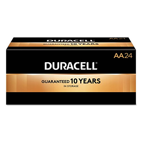 CopperTop Alkaline Batteries with Duralock Power Preserve Technology, AA, 144/CT, Sold as 1 Carton, 144 Each per Carton by Duracell