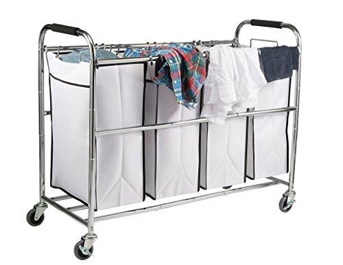 Saganizer Bag Laundry Organizer, Chrome/White