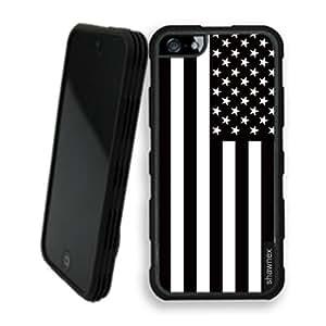 Shawnex Springink Black White Usa American Flag iPhone 5 Case - Rigid Shell Tough Protective Case iPhone 5 Case