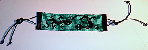 Gecko Pattern Beaded Bracelet (J Renee Wrap)