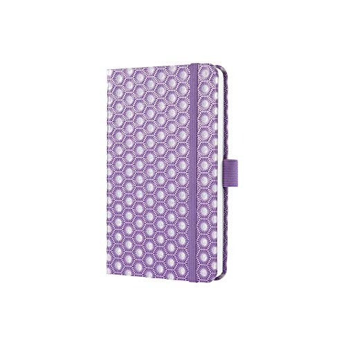SIGEL J0312 Weekly Diary 2020 Jolie, Approx. A6, hardcover, with Honeycomb Pattern, Violet