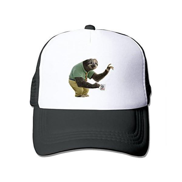 Lianbang Flash Zootopia Sloth Adjustable Printing Snapback Mesh Hat Unisex Adult Baseball Mesh Cap -