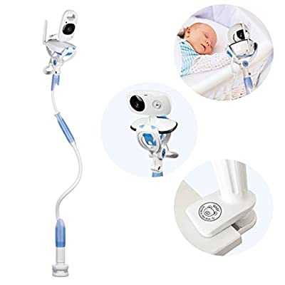 FlexxiCam Universal Baby Camera Mount, Infant Video Monitor Holder and Shelf - Flexible Camera Stand for Nursery Compatible with Most Baby Monitors from Grasslands Road