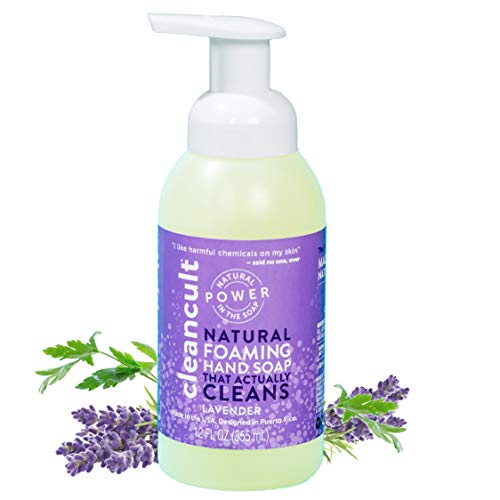 cleancult - Natural Foaming Hand Soap that Actually Cleans! - Lavender Fragrance - 100% Organic - Eco-friendly - Moisturizing and Nourishing - Safe for Kids - Baby Safe - Biodegradable - Hand Foaming Soap Organic