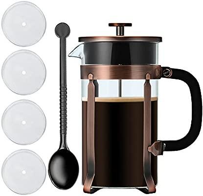1 litro de café y té francés, sistema de filtración de acero ...