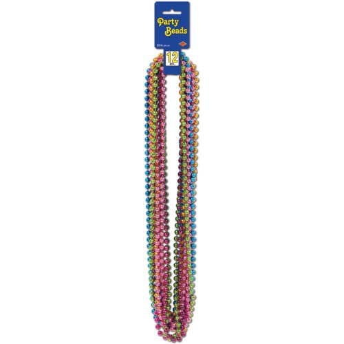 Party Beads - Small Round (asstd C/LG/M/O/P/T)    (12/Card) ()