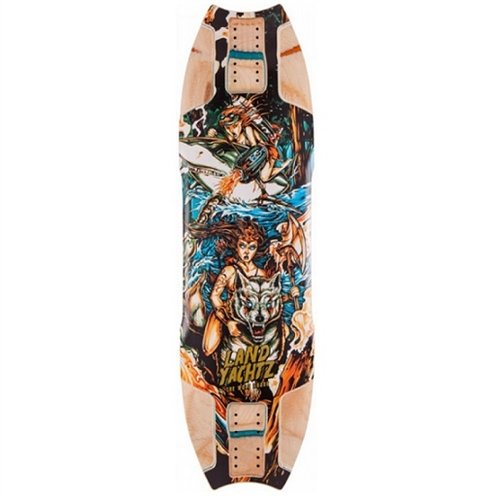 Landyactz Wolf Shark Longboard Deck 2015 (Shark Tech Deck)