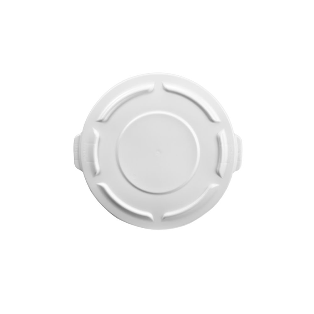 Rubbermaid Commercial Products BRUTE Heavy-Duty Round Waste/Utility Lid for 20-Gallon Container, White (FG261960WHT) 4U-00937
