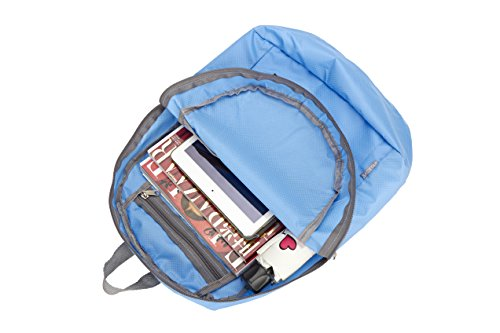 Pupsand más duradero Packable ligero Travel Travelpack mochila mochila(Negro) Azul