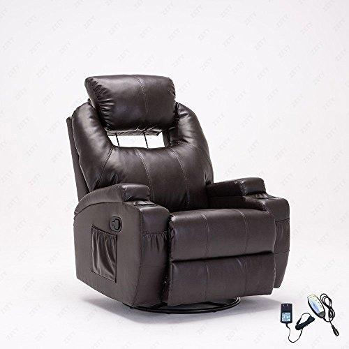 New Heated Massage Recliner Sofa Ergonomic Lounge Swivel With Control With Ebook