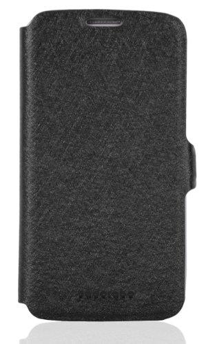 Cadorabo - Funda Book Style en Diseño FINO para Samsung Galaxy S4 MINI GT-I9190 - Etui Case Cover Carcasa Caja Protección con Tarjetero y Función de Soporte en NEGRO NEGRO