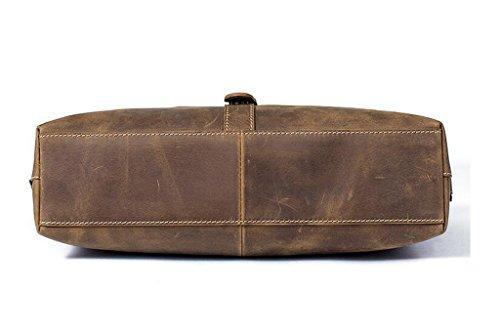 y Sucastle 1 Piel Cuero Bolsos Bolso 33x8x26CM de de Autentico Resistentes Pecho Bolsa Mochila Pequeña Bolsos Bandolera Hombre Hombro wwPqBF